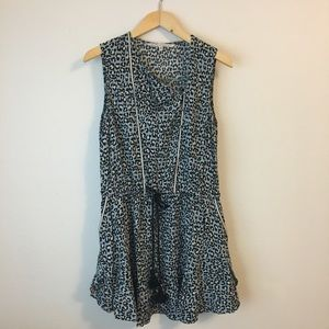 Rachel Roy Leopard Print Drop Waist Dress